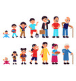 from baby to adult characters human ages teenage vector image vector image