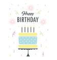 greeting card with cake in scandinavian vector image