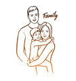happy family parents with child vector image