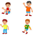 happy little kids collection set vector image vector image