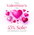 happy valentine s day design template with glossy vector image