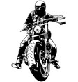 harley davidson and rider vector image vector image