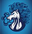 horse fire blue logo vector image vector image