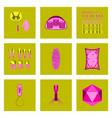 Icons set in flat style cells viruses teeth