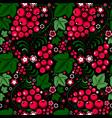 khokhloma seamless pattern in slavic folk style vector image vector image