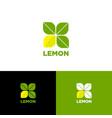 lemon logo vegetarian restaurant fresh market vector image vector image