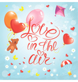 Love in the air vector image vector image