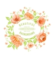 Luxurious color peony label vector image vector image