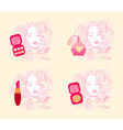 Make-up girl - poster set vector image vector image