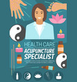 medicine or spa acupuncture doctor vector image vector image