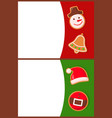 merry christmas greeting gingerbread cookies vector image vector image
