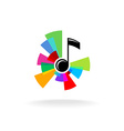 Music logo vector image vector image