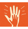 paper peoples hand vector image vector image