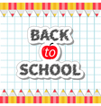 Pencil frame back to school exercise book vector image vector image