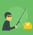 phishing mail concept background flat style vector image
