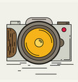 photo camera icon modern minimal flat design style vector image vector image