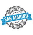 san marino round ribbon seal vector image vector image