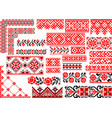 set 25 seamless ethnic patterns for embroidery vector image vector image