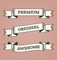 set of trendy vintage retro styled ribbons vector image vector image