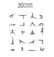 set of woman doing yoga exercises set vector image