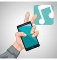 smartphone design app concept colorful vector image vector image