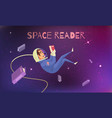 space reading background vector image vector image