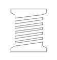 tailor thread bobbin icon symbol design vector image vector image