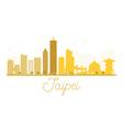Taipei City skyline golden silhouette vector image vector image