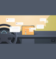 vehicle cockpit with smart driving assistance vector image