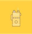 walkie talkie communication radio camping flat vector image