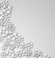 White Frost Background vector image vector image