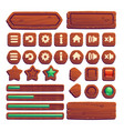 wooden buttons for ui game gui elements