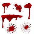 Realistic blood splatters set vector image
