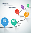 Web Infographic Timeline Speech Bubble Template vector image