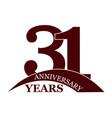 31 years anniversary flat simple design