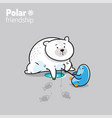 a kawaii polar bear and a vector image vector image