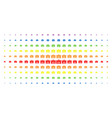 analysis spectrum halftone array vector image vector image