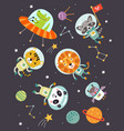 animals in space vector image vector image
