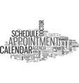 appointment word cloud concept vector image vector image