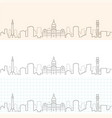 baltimore hand drawn skyline vector image vector image