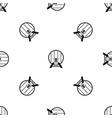 beer barrel in pub pattern seamless black vector image vector image