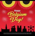 belgium national day celebration banner vector image vector image