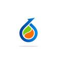 Bio arrow droplet logo
