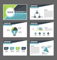 Blue green presentation templates Infographic set vector image vector image