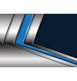 blue silver arrow with dark blank space vector image vector image