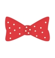 bow tie hipster retro vintage isolated vector image