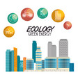 buildings ecology green city scene vector image