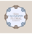 Calligraphic vintage frame with flowers vector image vector image