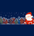 cartoon banner for holiday theme with santa claus vector image