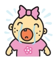 Cartoon crying baby girl isolated vector image vector image